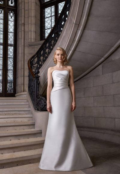 Strapless Fit To Flare Wedding Dress by Sareh Nouri