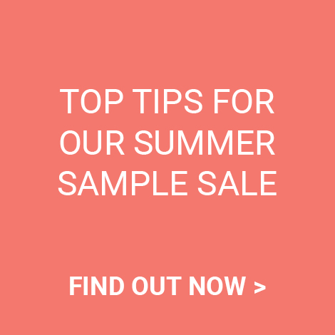 top tips for summer sample sale