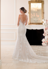 V-neck Lace and Tulle Wedding Dress by Stella York - Image 2
