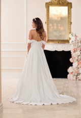 Simple Off the Shoulder Satin Ball Gown by Stella York - Image 3