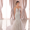 Spaghetti Strap Lace Mermaid Wedding Dress by Stella York - Image 1