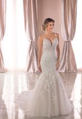 Spaghetti Strap Lace Mermaid Wedding Dress by Stella York - Image 1