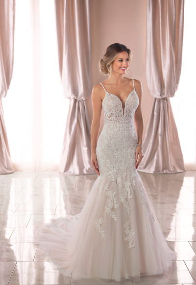Spaghetti Strap Lace Mermaid Wedding Dress by Stella York