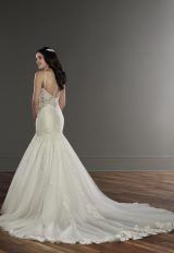 Spaghetti Strap Lace Mermaid Wedding Dress by Martina Liana - Image 2