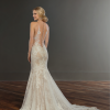 Beaded lace fit and flare wedding dress by Martina Liana - Image 2