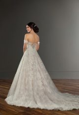 Off the Shoulder Ball Gown Wedding Dress by Martina Liana - Image 2