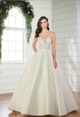 Strapless ball gown wedding dress by Essense of Australia - Image 1