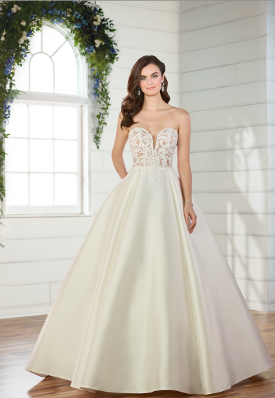 Strapless ball gown wedding dress by Essense of Australia