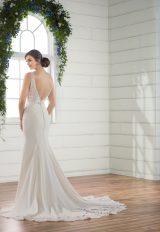 Sleeveless crepe sheath v-neck wedding dress by Essense of Australia - Image 2