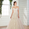 Lace ballgown with off the shoulder straps by Essense of Australia - Image 1