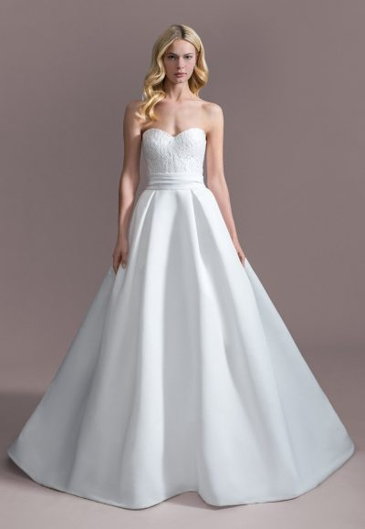 Strapless Sweetheart Ball Gown Wedding Dress by Allison Webb