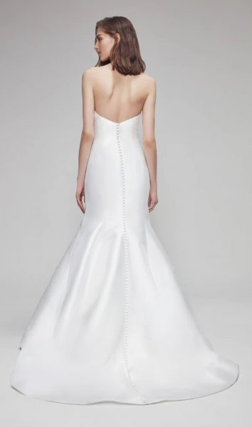 Strapless Fit And Flare Wedding Dress by Anne Barge - Image 2