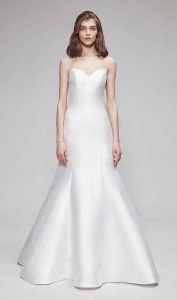 Strapless Fit And Flare Wedding Dress by Anne Barge - Image 1