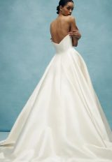 V-neck Ball Gown Wedding Dress by Anne Barge - Image 2