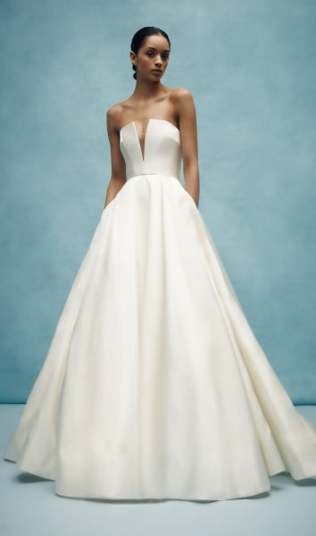 V-neck Ball Gown Wedding Dress by Anne Barge - Image 1