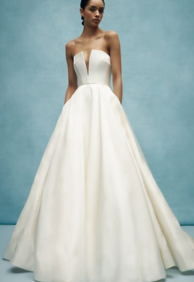V-neck Ball Gown Wedding Dress by Anne Barge
