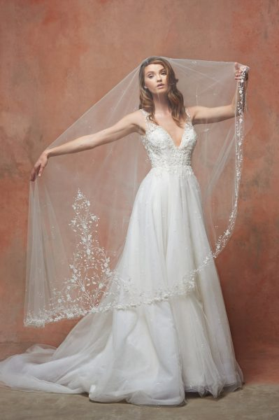 Embroidered Veil by Blossom Veils - Image 1