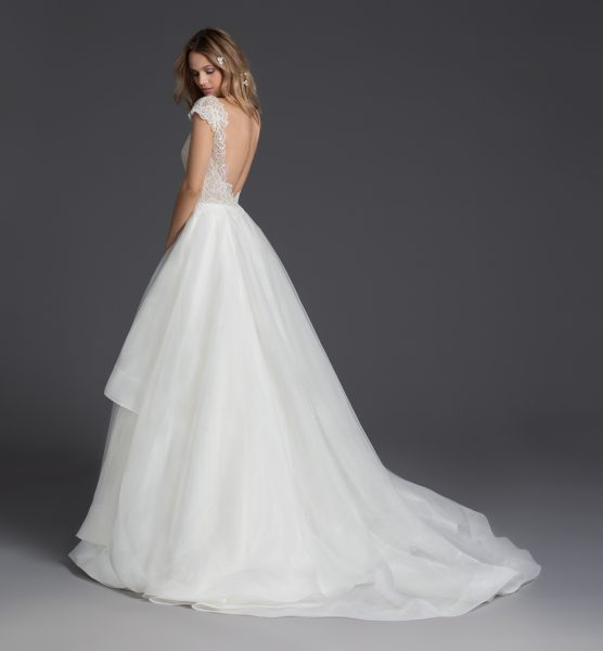 Cap Sleeve Ball Gown by BLUSH by Hayley Paige - Image 2