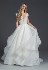 Cap Sleeve Ball Gown by BLUSH by Hayley Paige - Image 1