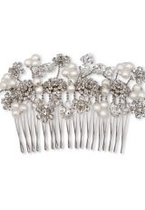 Pearl And Floral Comb by Ellen Hunter - Image 1