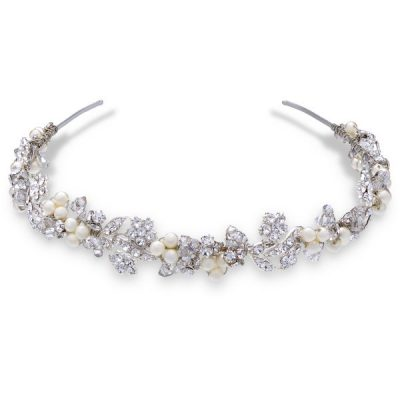 Swarovski Pearl Headband by Ellen Hunter
