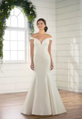 Off The Shoulder Mikado Gown by Essense of Australia - Image 1