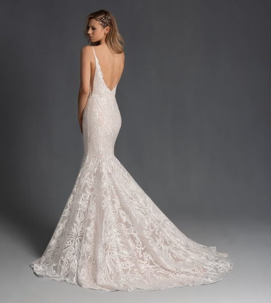 Embroidered Fit And Flare Sweetheart Neckline Wedding Dress by Hayley Paige - Image 2
