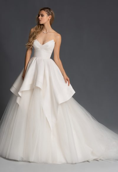 Tulle Strapless Tiered Ball Gown Wedding Dress by Hayley Paige