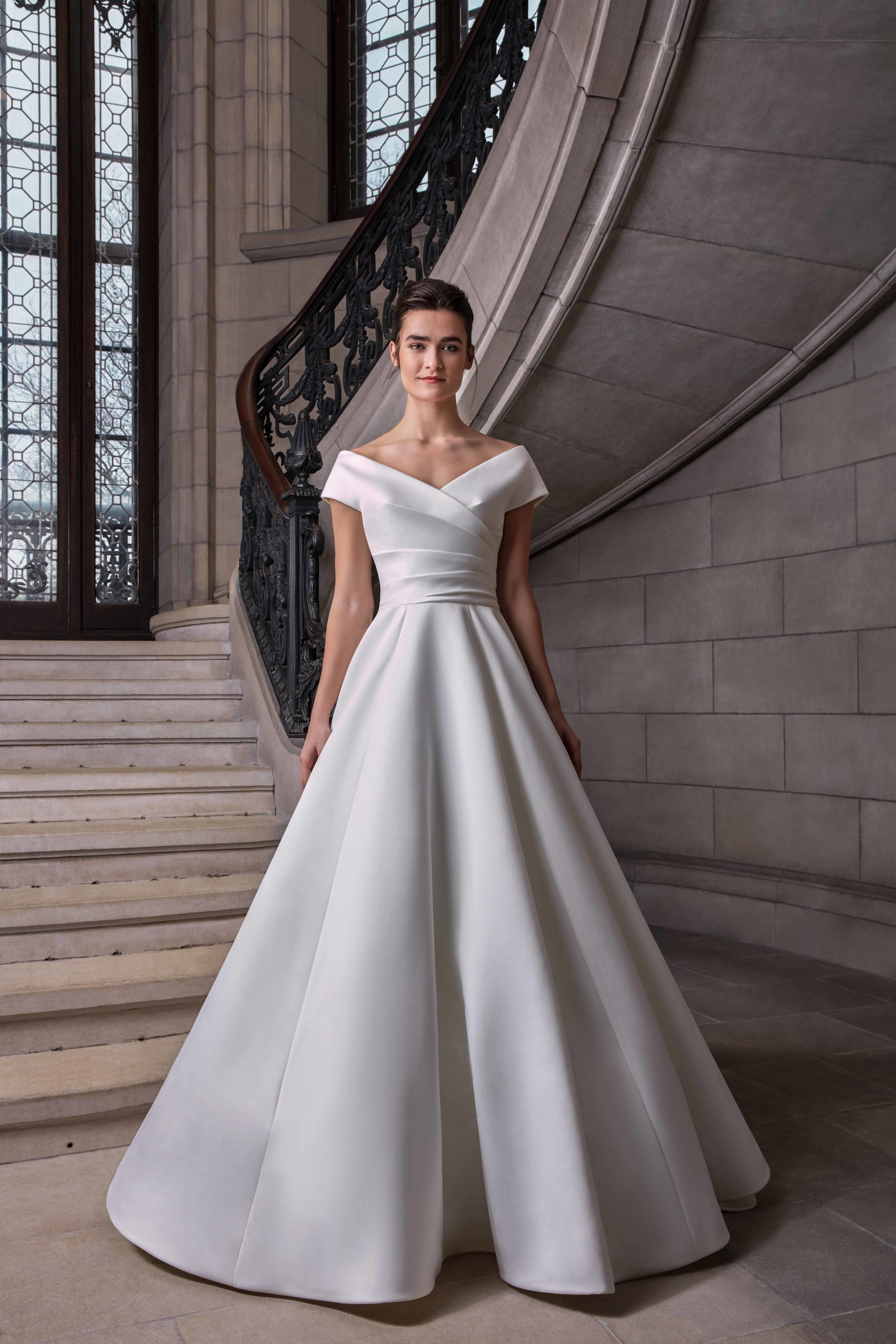 Simple Silk Ball Gown Wedding Dress