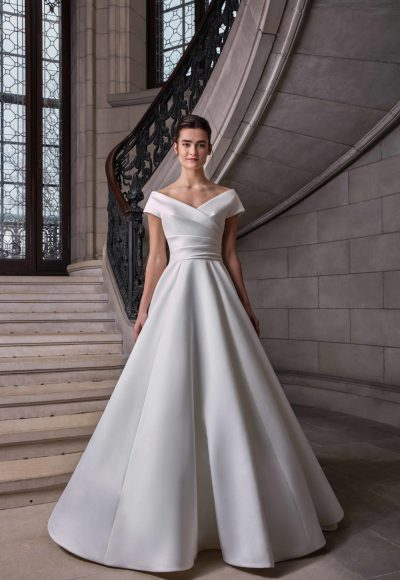 Simple Silk Ball Gown Wedding Dress by Sareh Nouri