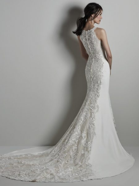 Halter Neckline Lace Wedding Dress by Sottero and Midgley - Image 2