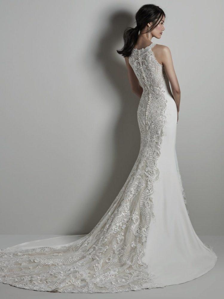 Halter Neckline Lace Wedding Dress by Sottero and Midgley - Image 2