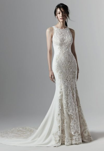 Halter Neckline Lace Wedding Dress by Sottero and Midgley