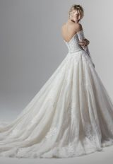 Off The Shoulder Lace Ball Gown Wedding Dress by Sottero and Midgley - Image 2