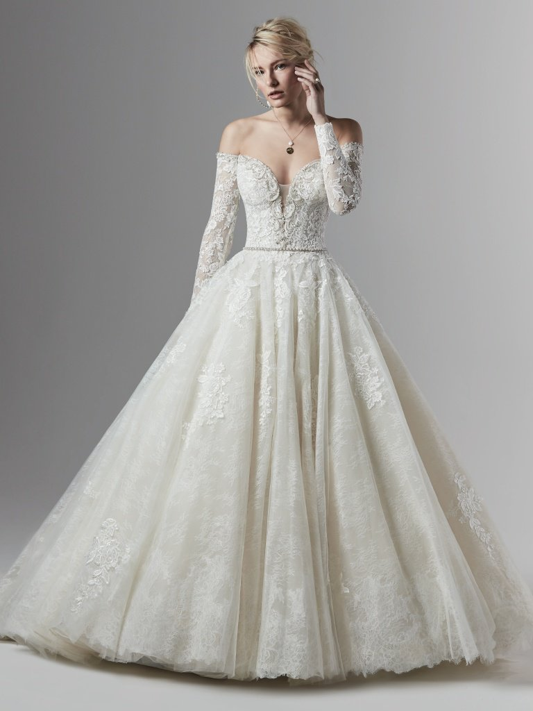 Off The Shoulder Lace Ball Gown Wedding Dress Kleinfeld Bridal