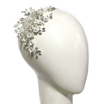 Floral And Pearl Headpiece by Ti Adoro