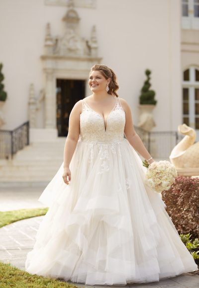 Sequin Ballgown Wedding Dress by Stella York