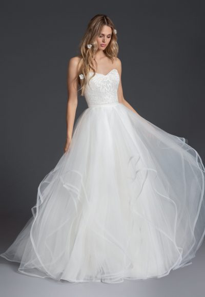 Lace Sweetheart Neckline Sheath Wedding Dress by BLUSH by Hayley Paige