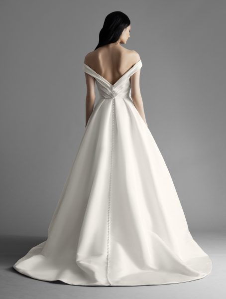 Off The Shoulder Draped A-line Wedding Dress by Allison Webb - Image 2