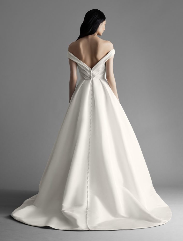 Off The Shoulder Draped A-line Wedding Dress by Allison Webb - Image 2