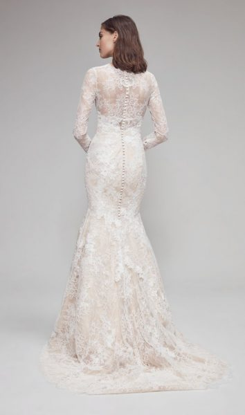 3/4 Sleeve Lace V-neckline Fit And Flare Wedding Dress by Anne Barge - Image 2