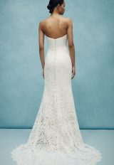 Lace Sheath Strapless Wedding Dress by Anne Barge - Image 2