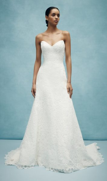 Sweetheart A-line Lace Wedding Dress by Anne Barge - Image 1