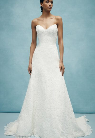 Sweetheart A-line Lace Wedding Dress by Anne Barge