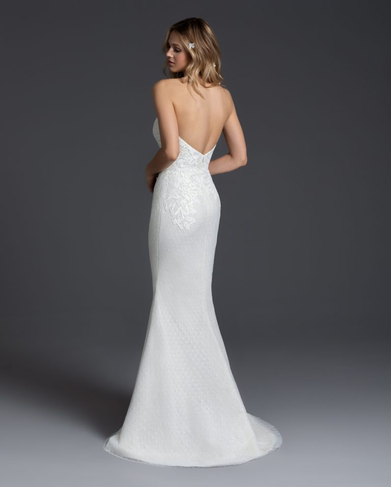 Lace Sweetheart Neckline Sheath Wedding Dress by BLUSH by Hayley Paige - Image 3