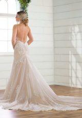 Spaghetti Strap V-neckline Lace Mermaid Wedding Dress by Essense of Australia - Image 2