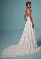 Sleeveless V-neckline Beaded Bodice A-line Wedding Dress by Maggie Sottero - Image 2