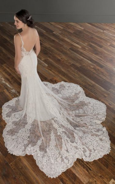 Sleeveless V-neckline Beaded And Embroidered Fit And Flare Wedding Dress by Martina Liana - Image 2