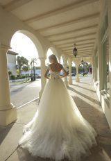 Off-the-shoulder Sweetheart Neckline Ball Gown Wedding Dress With Basque Waist And Beading by Randy Fenoli - Image 2