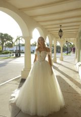 Off-the-shoulder Sweetheart Neckline Ball Gown Wedding Dress With Basque Waist And Beading by Randy Fenoli - Image 1